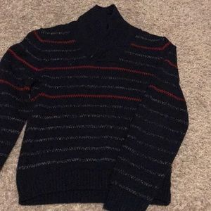 Nautica Boys Sweater Toggle Neck Size 7x Dark Blu